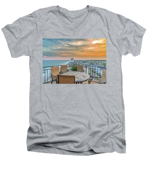 Garden City Beach View Men's V-Neck T-Shirt
