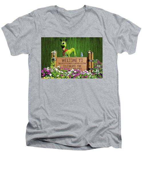Garden Festival Mp Men's V-Neck T-Shirt
