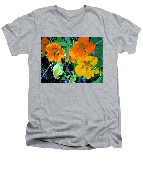 Garden Flavor Men's V-Neck T-Shirt by Winsome Gunning