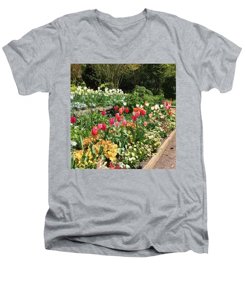 Garden Flowers Men's V-Neck T-Shirt