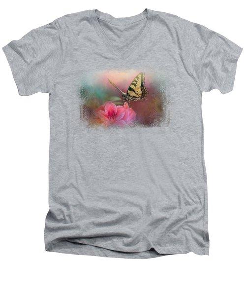 Garden Friend 2 Men's V-Neck T-Shirt by Jai Johnson