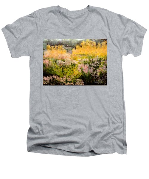 Garden In Northern Light Men's V-Neck T-Shirt