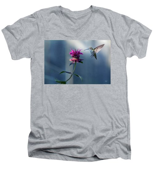 Men's V-Neck T-Shirt featuring the photograph Garden Jewelry by Everet Regal
