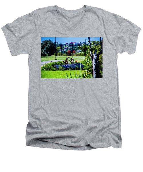 Garden Log Men's V-Neck T-Shirt