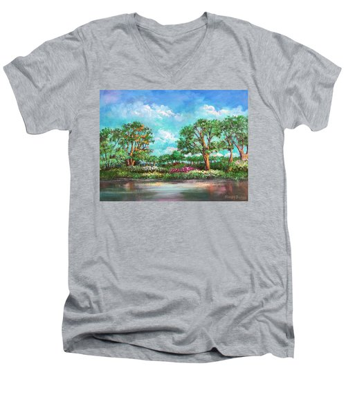 Summer In The Garden Of Eden Men's V-Neck T-Shirt by Randy Burns