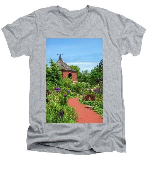 Garden Path Men's V-Neck T-Shirt by Trey Foerster