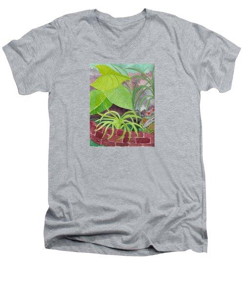 Garden Scene 9-21-10 Men's V-Neck T-Shirt