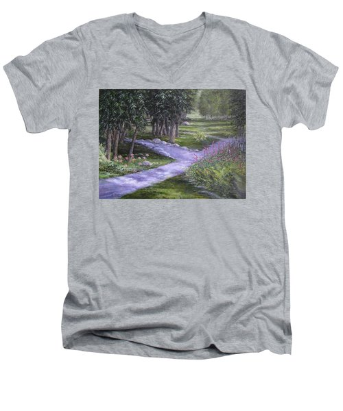 Garden Walk Men's V-Neck T-Shirt