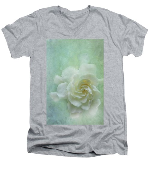 Gardenia Men's V-Neck T-Shirt by Catherine Alfidi