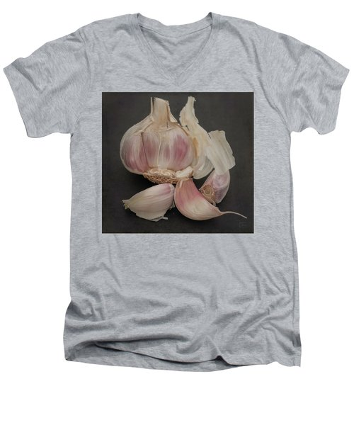 Garlic-7640 Men's V-Neck T-Shirt