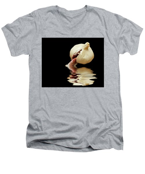 Men's V-Neck T-Shirt featuring the photograph Garlic Cloves Of Garlic by David French