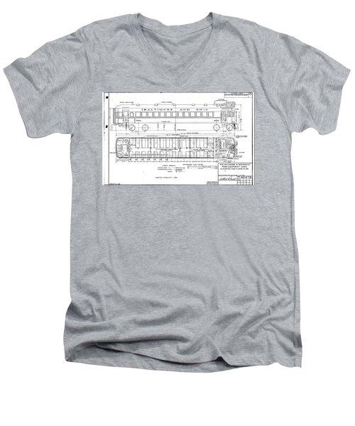 Gas Electric Car Diagram Men's V-Neck T-Shirt