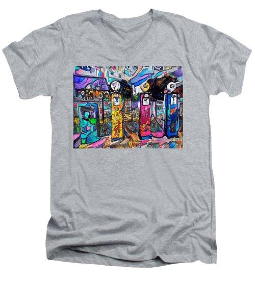 Gas Station Men's V-Neck T-Shirt