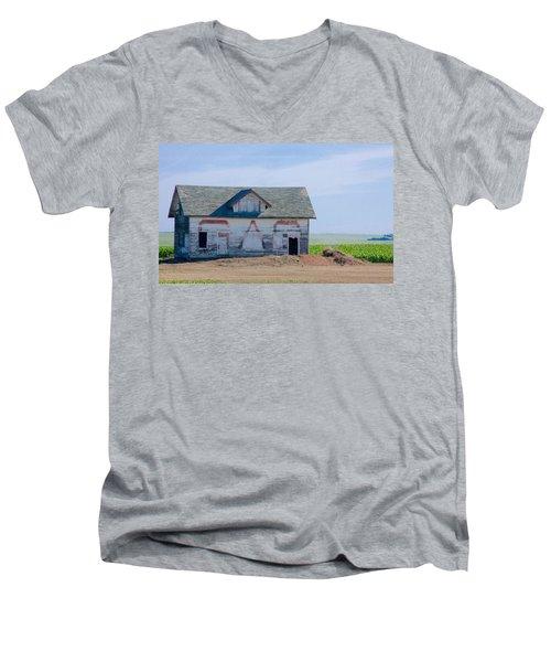 Men's V-Neck T-Shirt featuring the photograph Gas by Susan Crossman Buscho