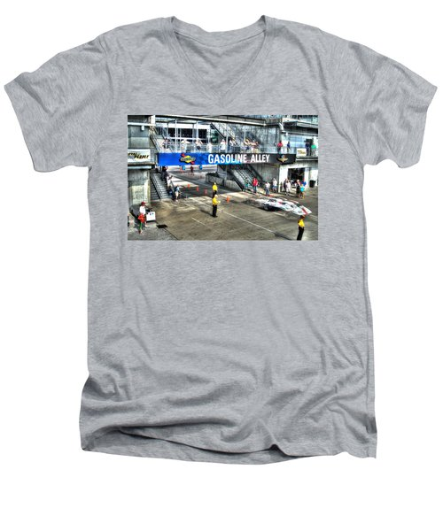 Gasoline Alley 2015 Men's V-Neck T-Shirt by Josh Williams