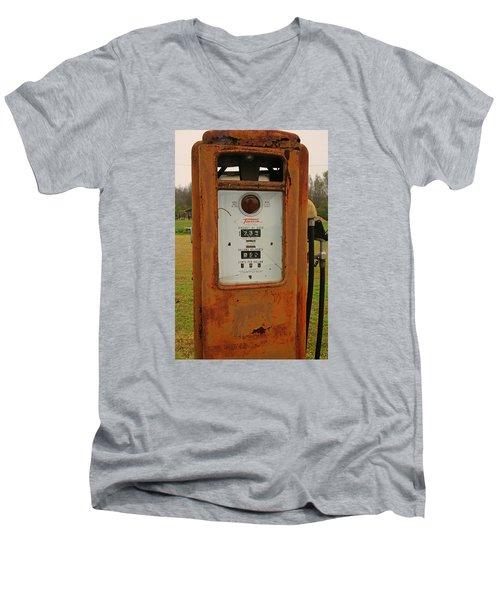 Gasoline Pump Men's V-Neck T-Shirt