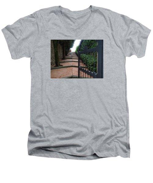 Gate To Castello Vichiamaggio Men's V-Neck T-Shirt
