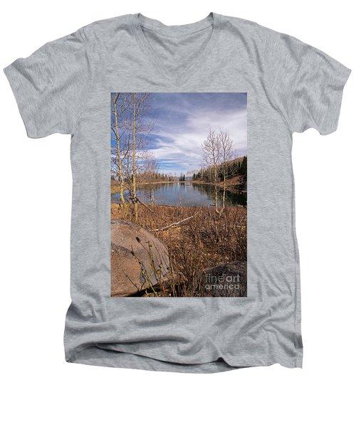 Gates Lake Ut Men's V-Neck T-Shirt by Cindy Murphy - NightVisions