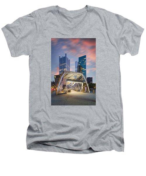 Gateway Station At Pittsburgh  Men's V-Neck T-Shirt