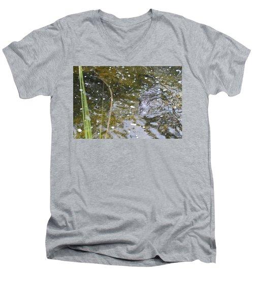 Gator Coming Men's V-Neck T-Shirt