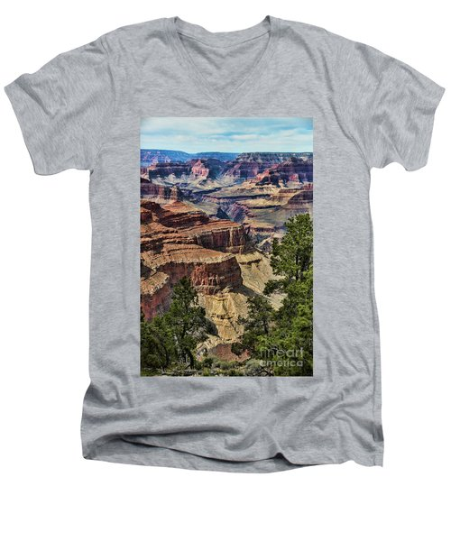 Gc 32 Men's V-Neck T-Shirt by Chuck Kuhn