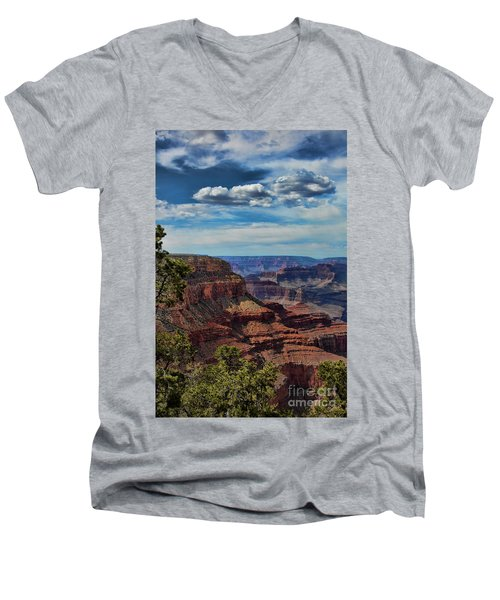 Gc 34 Men's V-Neck T-Shirt by Chuck Kuhn