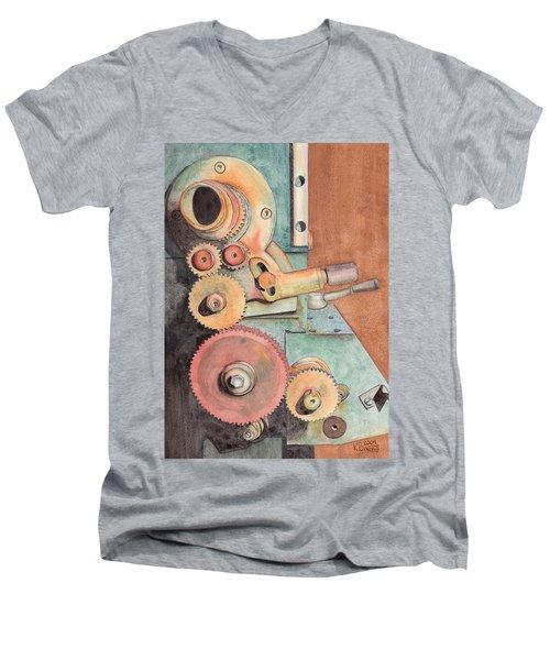 Gears Men's V-Neck T-Shirt