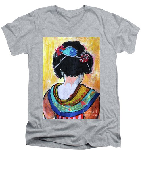 Geisha Girl  Men's V-Neck T-Shirt