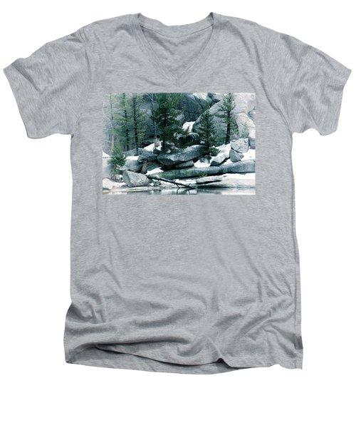 Gem Lake Men's V-Neck T-Shirt