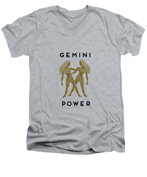 Gemini Power Men's V-Neck T-Shirt