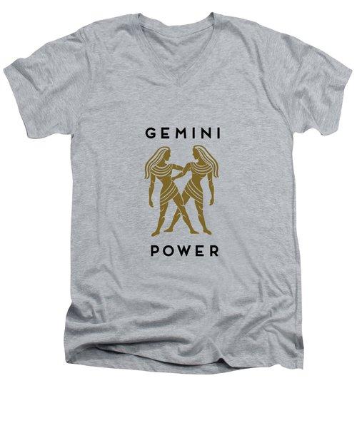 Gemini Power Men's V-Neck T-Shirt