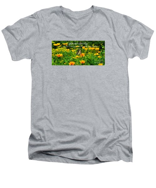 Men's V-Neck T-Shirt featuring the photograph Gen Er Os I Ty  by Diane E Berry