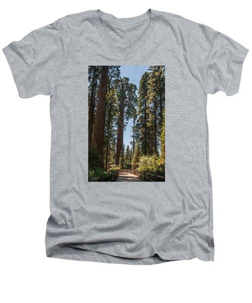 General Grant Tree Kings Canyon National Park Men's V-Neck T-Shirt