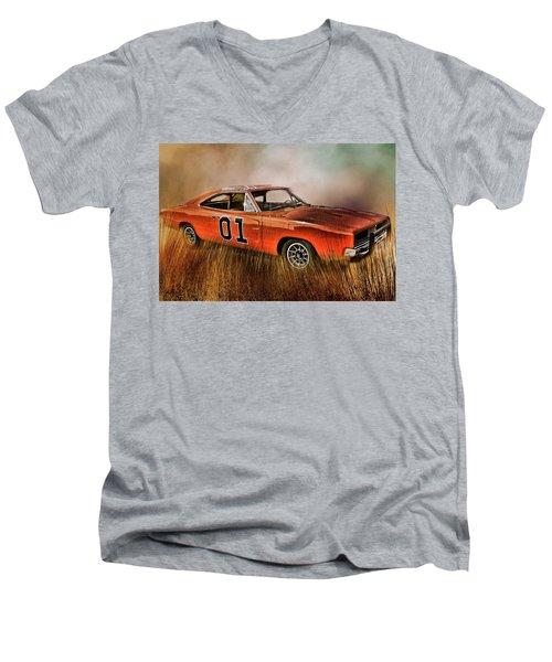 General Lee Men's V-Neck T-Shirt