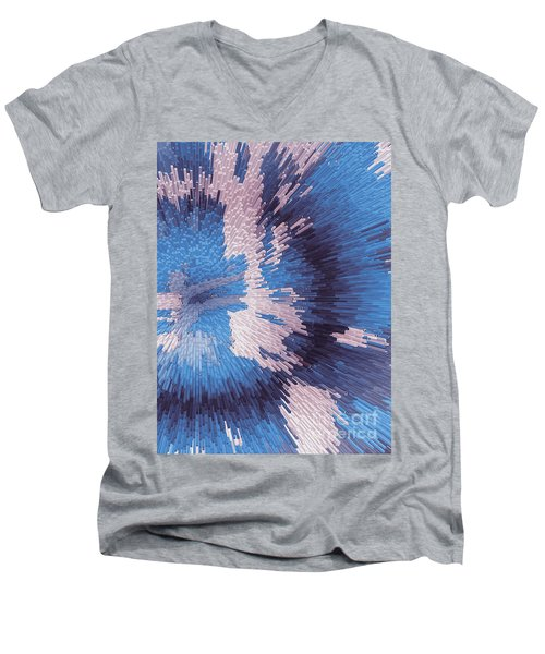 Genetic Engineering Flower Men's V-Neck T-Shirt