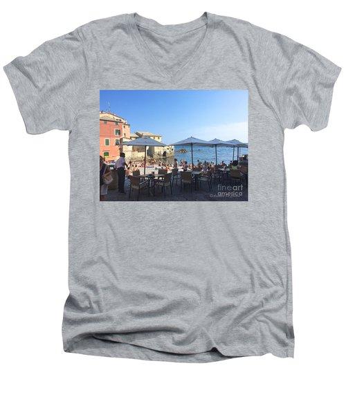 Genova, Boccadasse Men's V-Neck T-Shirt