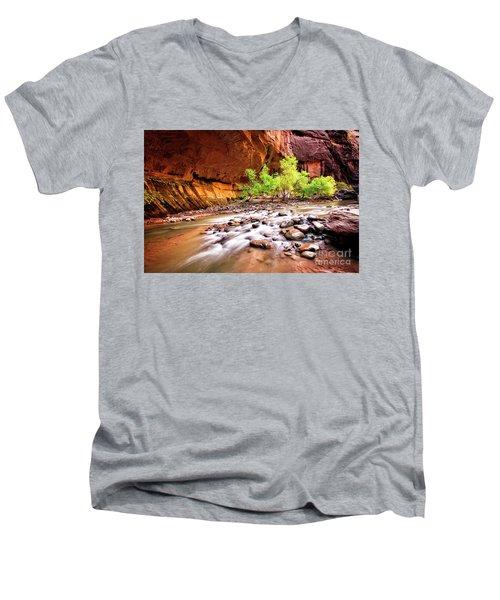 Gentle Flow Men's V-Neck T-Shirt