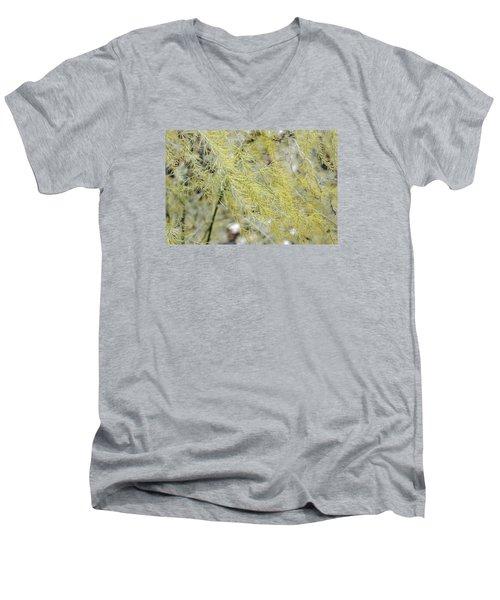 Men's V-Neck T-Shirt featuring the photograph Gentle Weeds by Deborah  Crew-Johnson