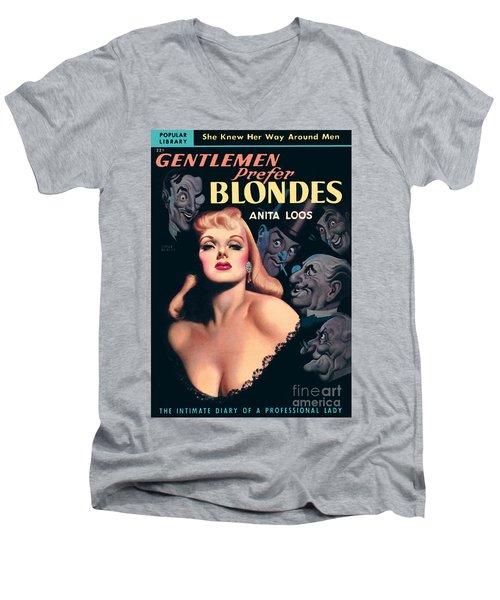 Gentlemen Prefer Blondes Men's V-Neck T-Shirt