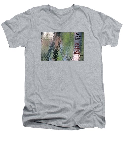 Men's V-Neck T-Shirt featuring the photograph Gentleness Is Victory by David Norman