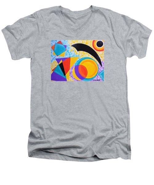 Geo Me Men's V-Neck T-Shirt