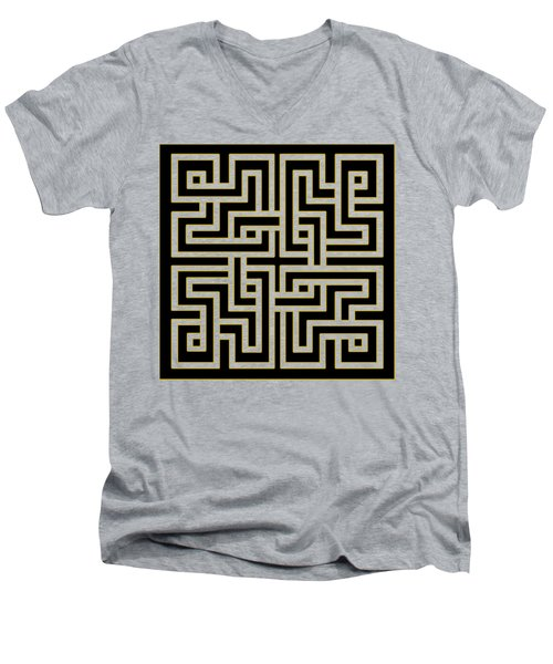 Geo Pattern 5 - Transparent Men's V-Neck T-Shirt by Chuck Staley