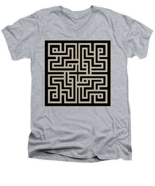 Geo Pattern 5 - Transparent Men's V-Neck T-Shirt