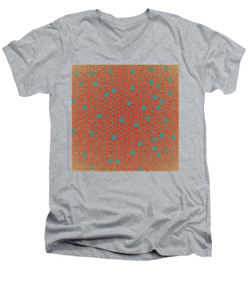 Men's V-Neck T-Shirt featuring the digital art Geometric 1 by Bonnie Bruno