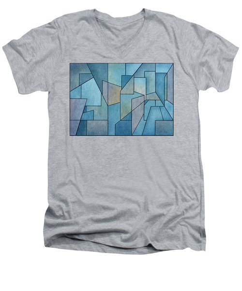 Geometric Abstraction IIi Men's V-Neck T-Shirt