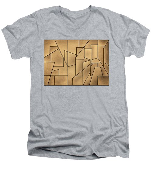 Geometric Abstraction IIi Toned Men's V-Neck T-Shirt