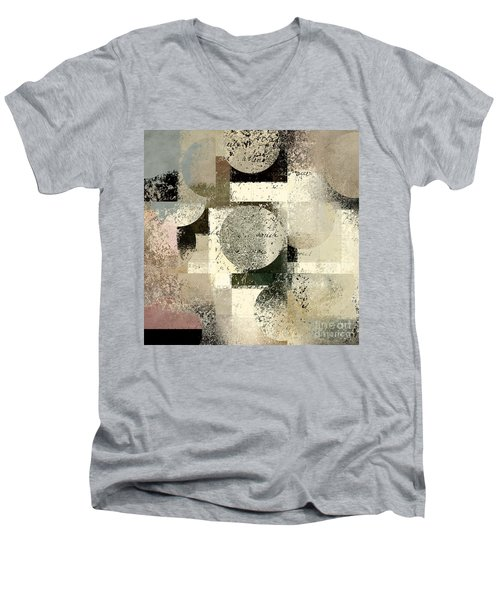 Geomix - C133et02b Men's V-Neck T-Shirt by Variance Collections