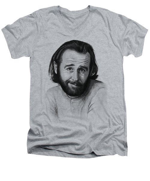George Carlin Portrait Men's V-Neck T-Shirt