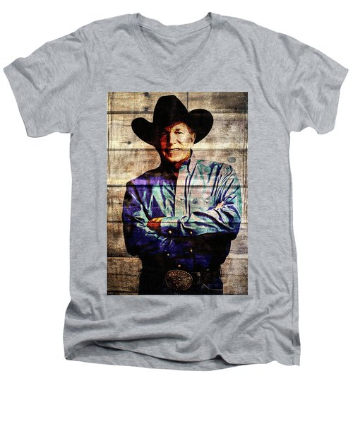 George Strait Men's V-Neck T-Shirt