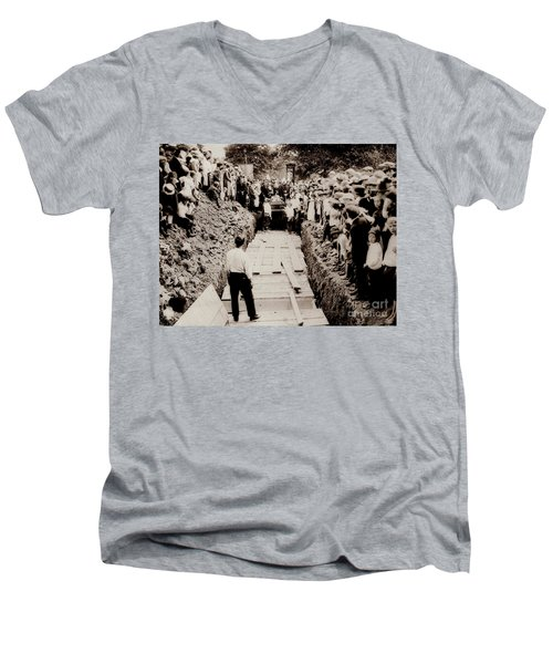 Georgetown Section Of Wilkes Barre Twp. June 5 1919 Men's V-Neck T-Shirt